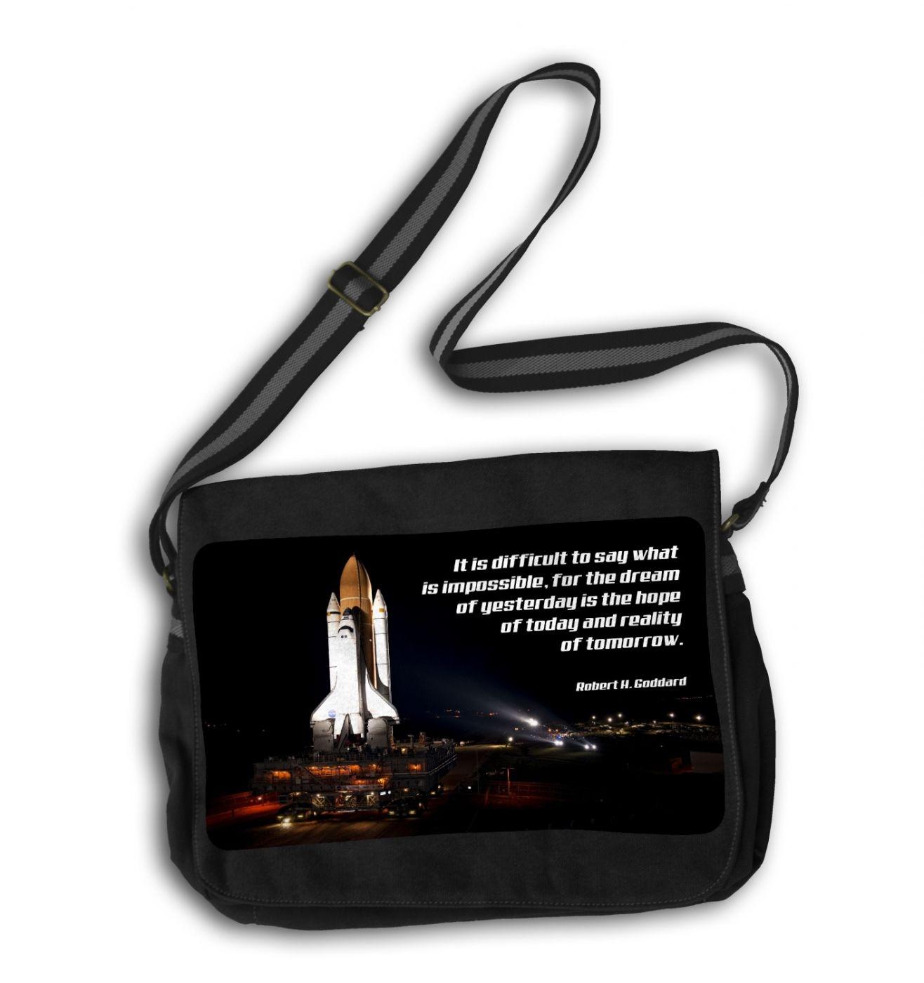 Space Shuttle messenger bag - geeky school bag