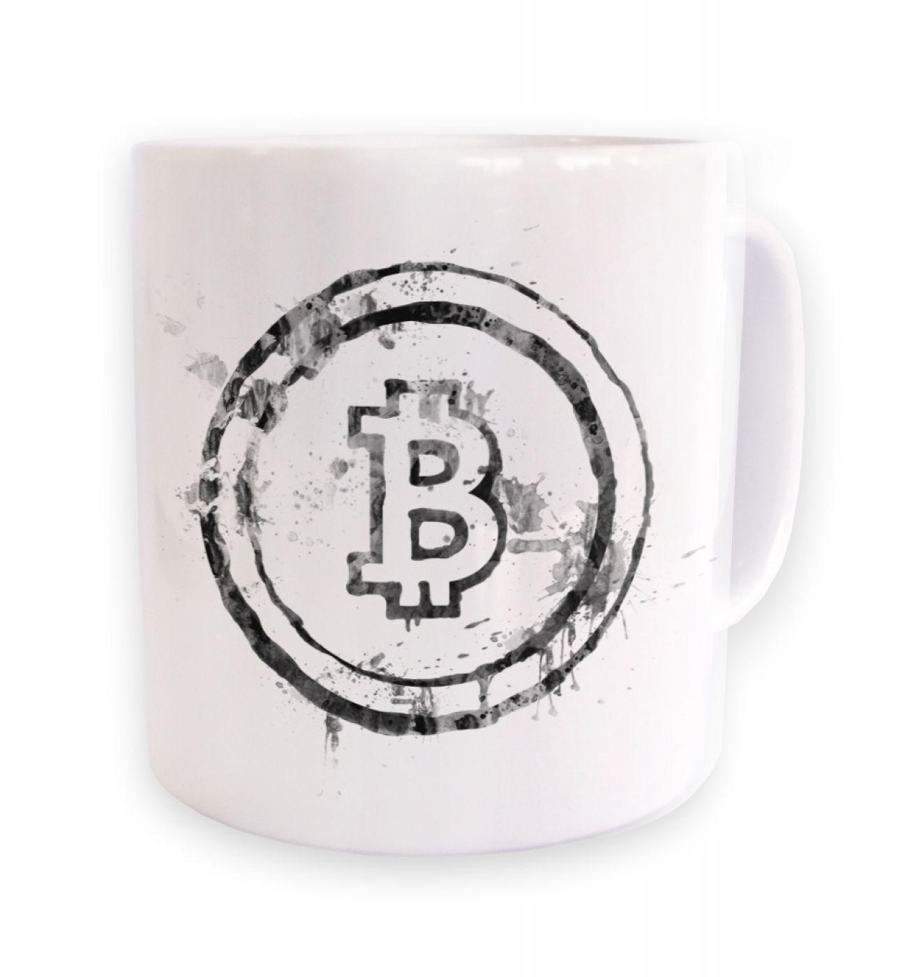 Splatter Effect Bitcoin mug