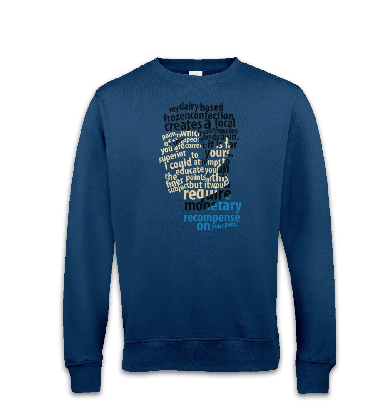Spock's Milkshake sweatshirt