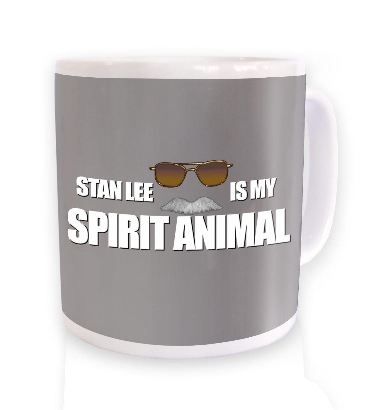 Stan Lee Is My Spirit Animal mug by Something Geeky