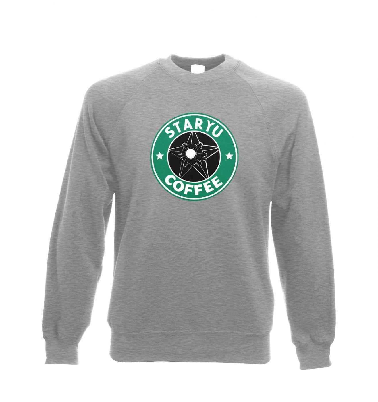 Staryu Coffee Adult Crewneck Sweatshirt  - Inspired by Pokemon
