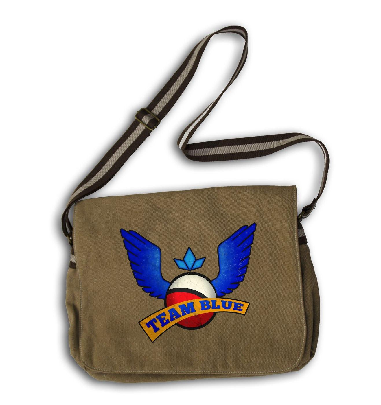 Team Blue gaming messenger bag
