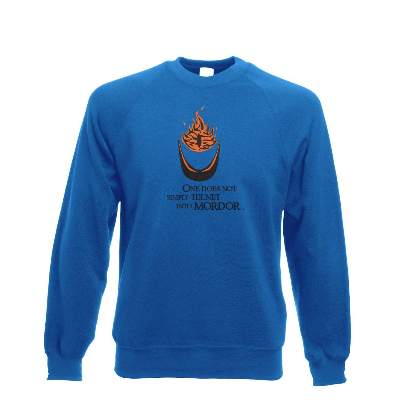 Telnet into Mordor adult crewneck sweatshirt