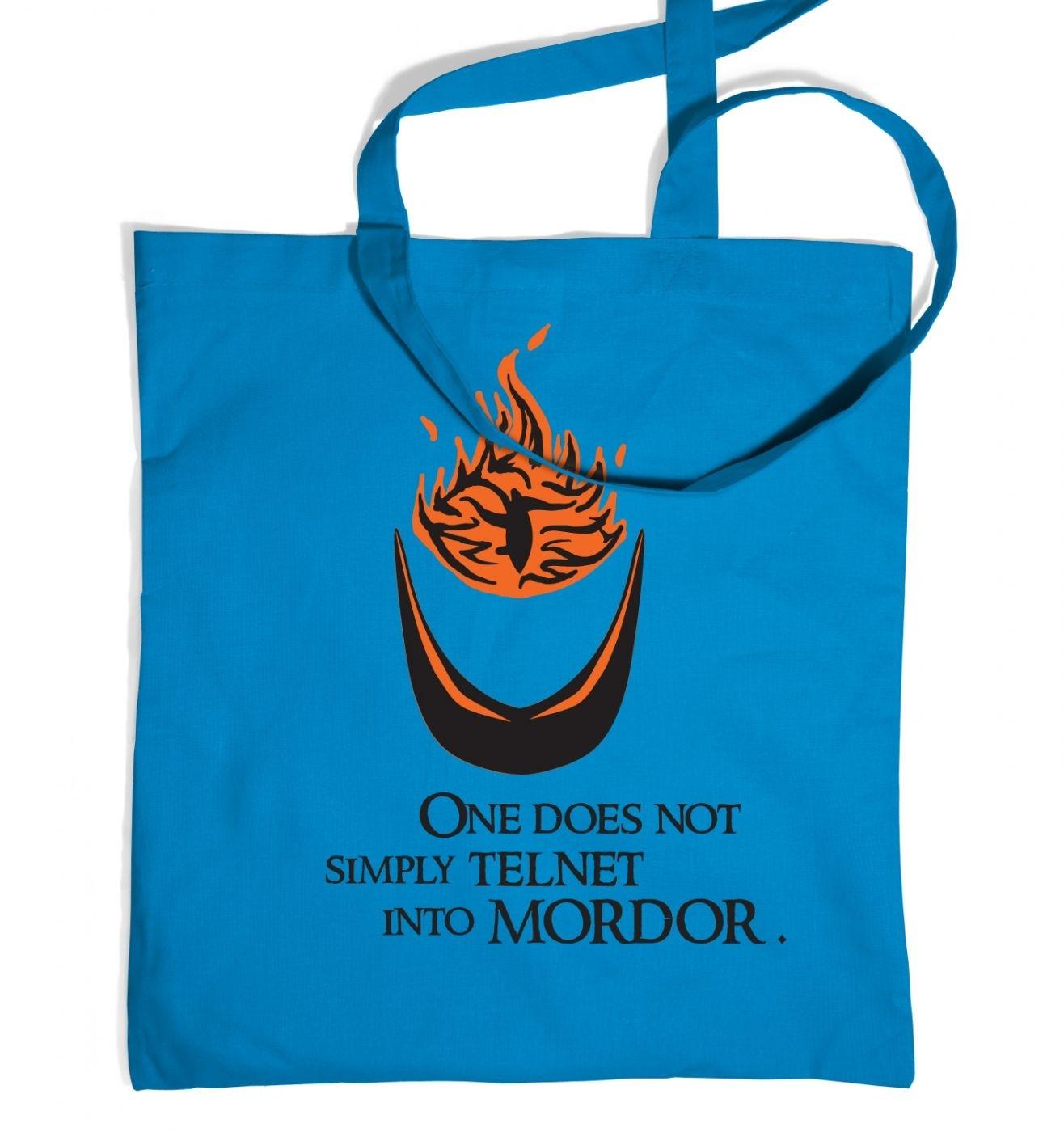 Telnet into Mordor tote bag