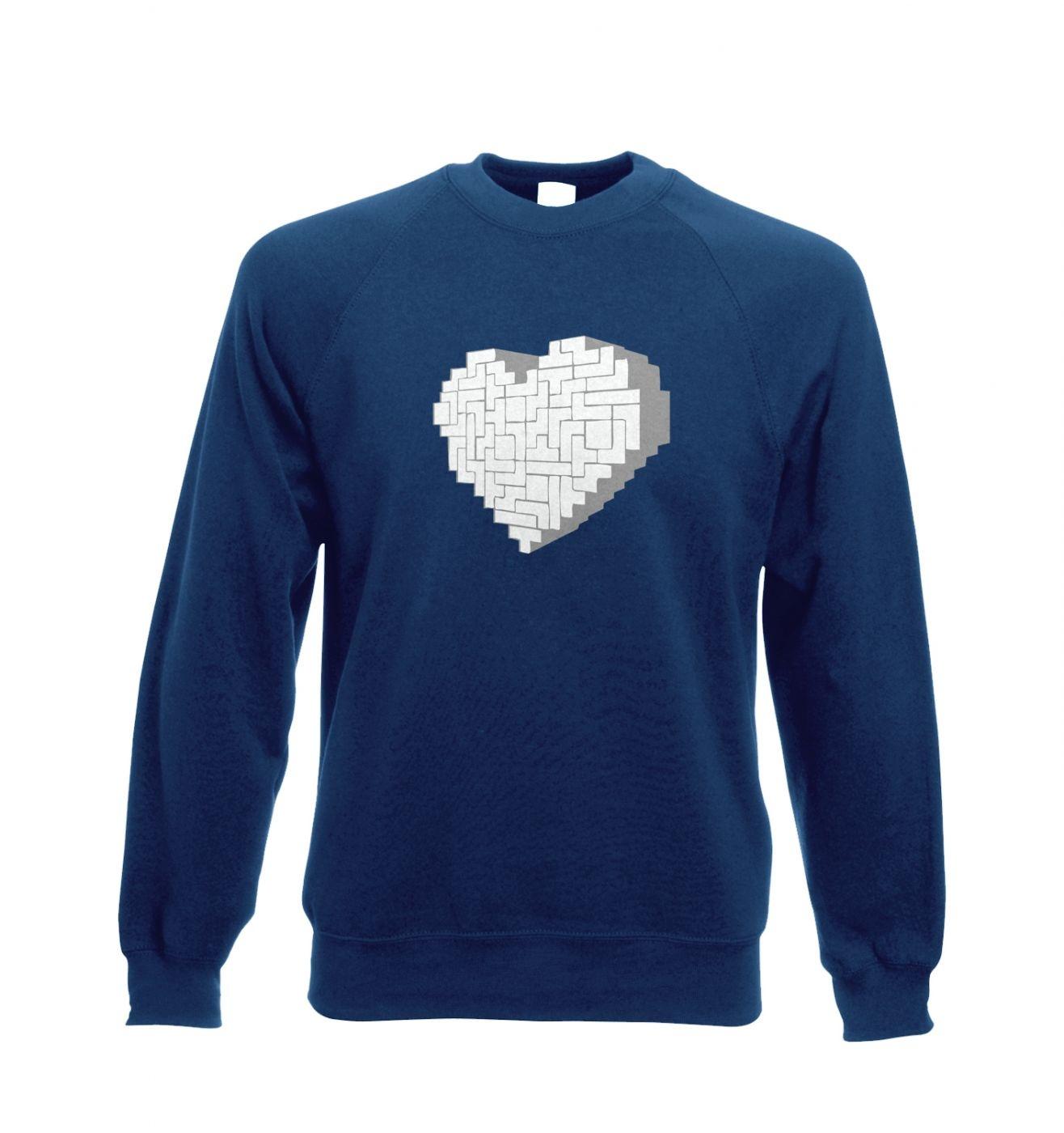 Shaped Brick Heart crewneck sweatshirt