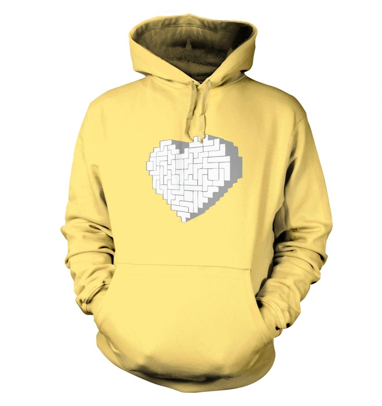 Shaped Brick Heart hoodie
