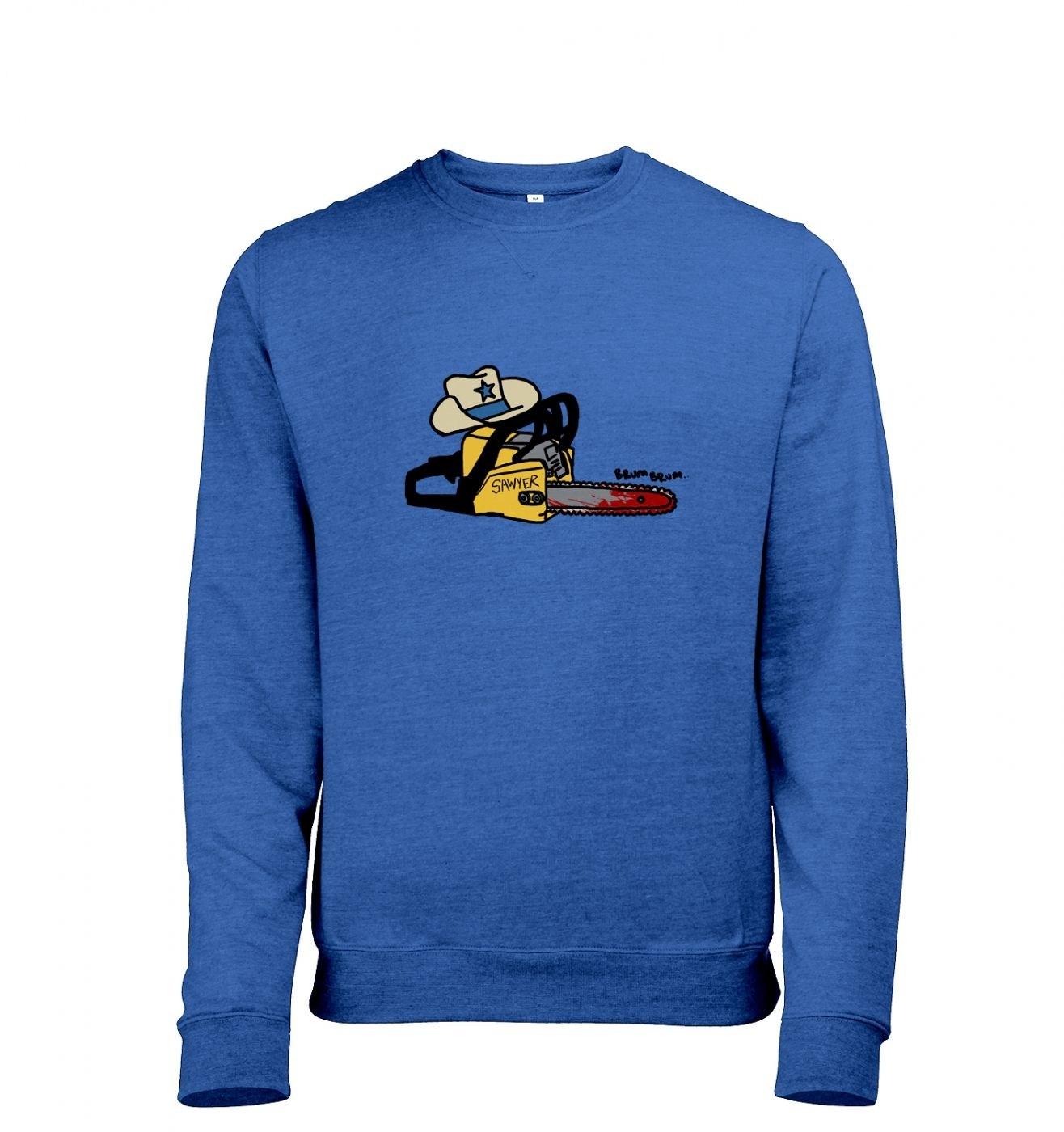 Texas Chainsawyer adults' heather crewneck sweatshirt
