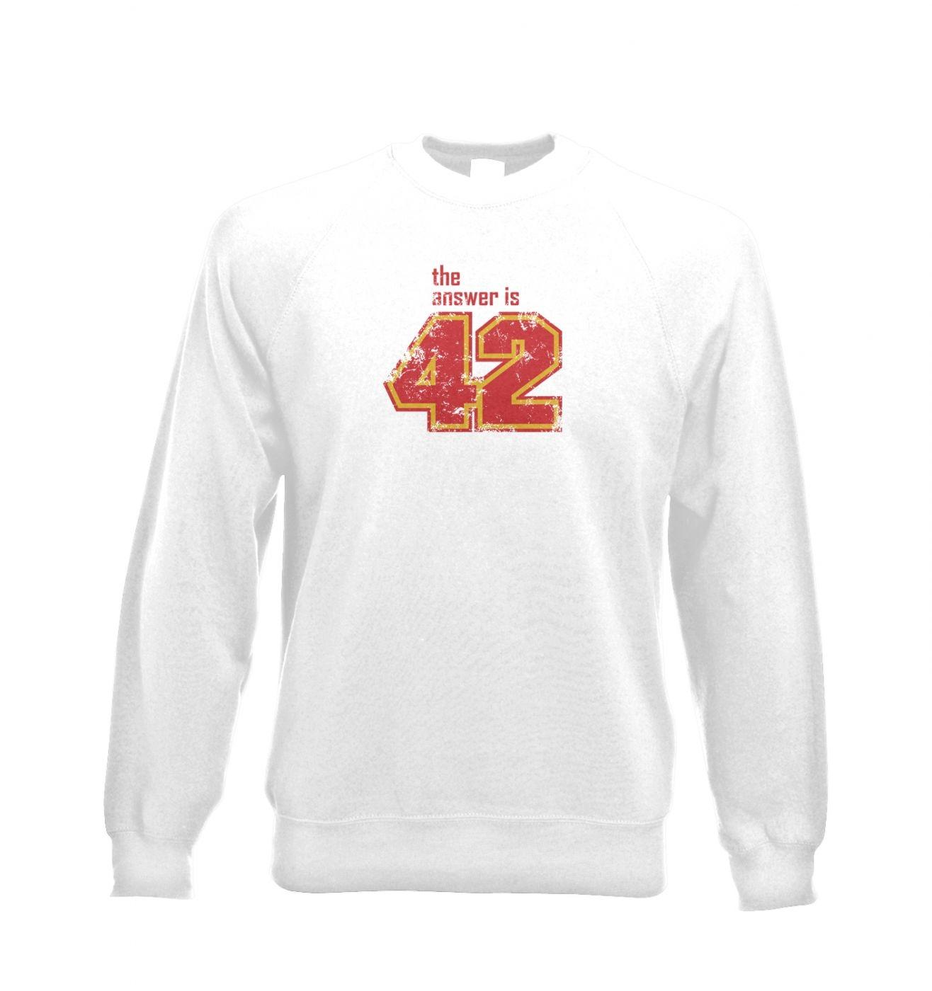 The Answer Is 42 crewneck sweatshirt