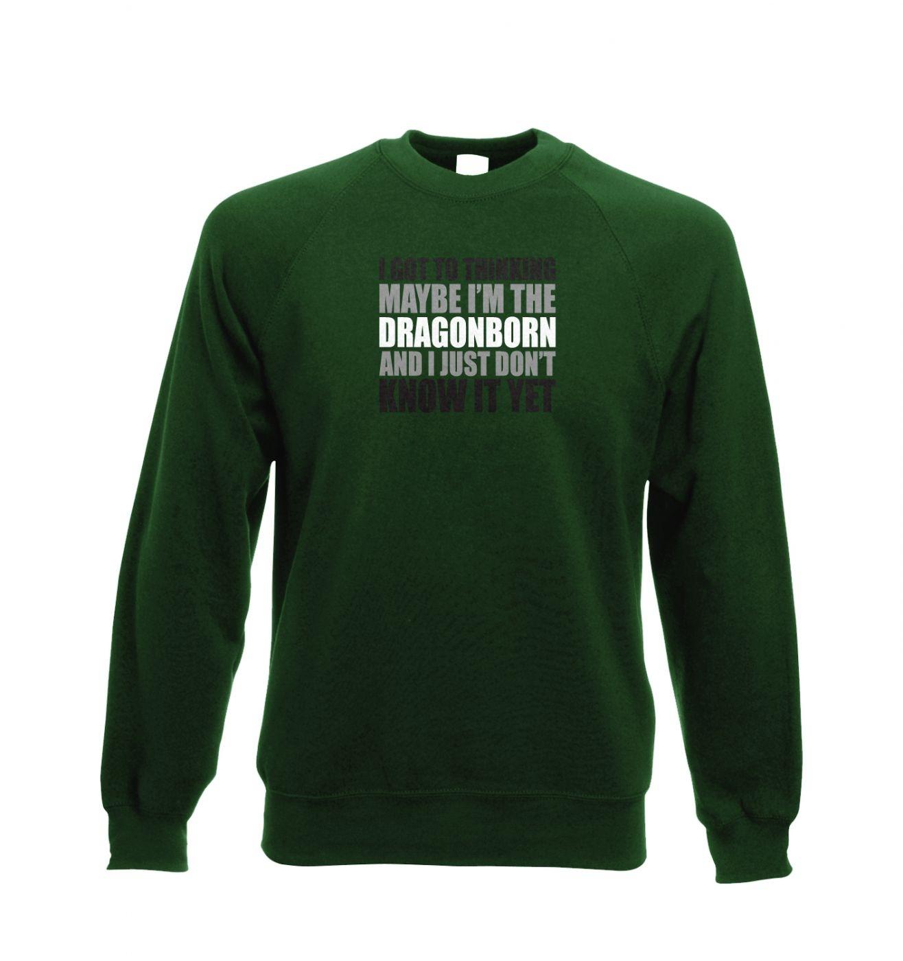 Thinking I'm The Dragonborn crewneck sweatshirt