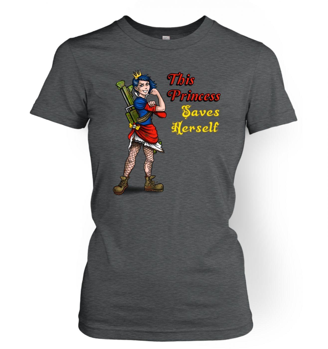 This Princess Saves Herself women's t-shirt