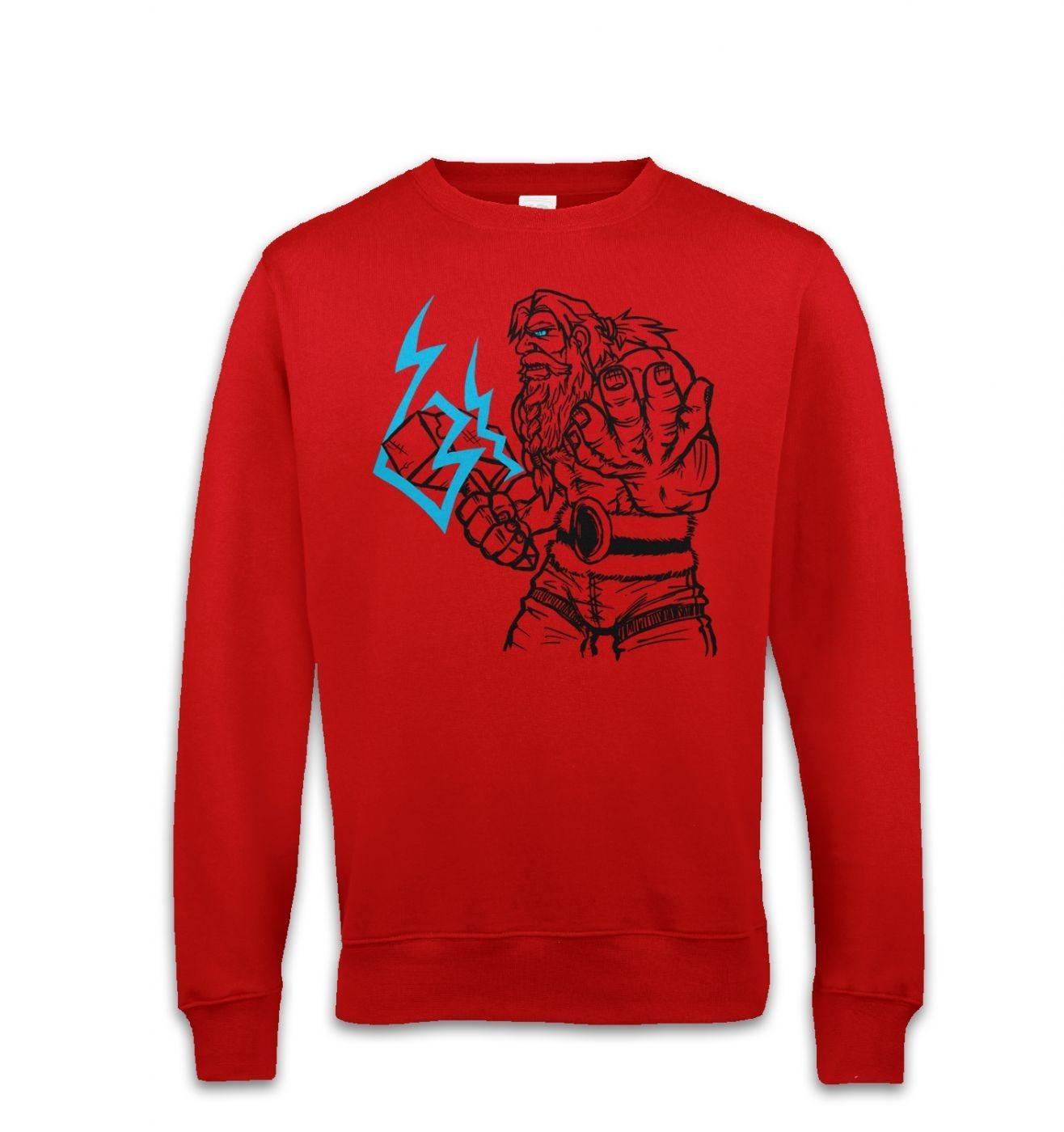 God Of Thunder Lineart Thor sweatshirt
