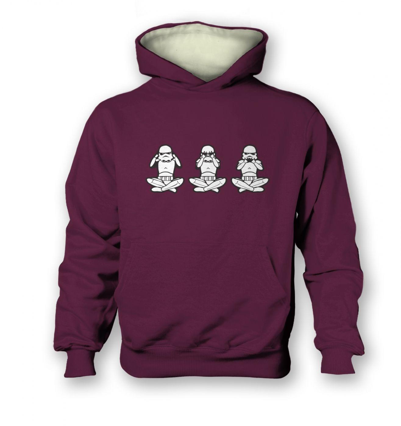 Three Wise Stormtroopers kid's contrast hoodie
