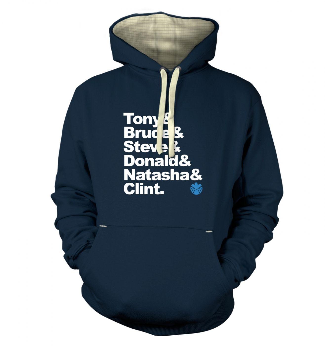 Tony And Bruce And premium hoodie