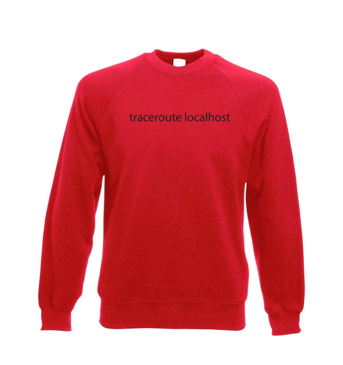 Traceroute localhost Adult Crewneck Sweatshirt