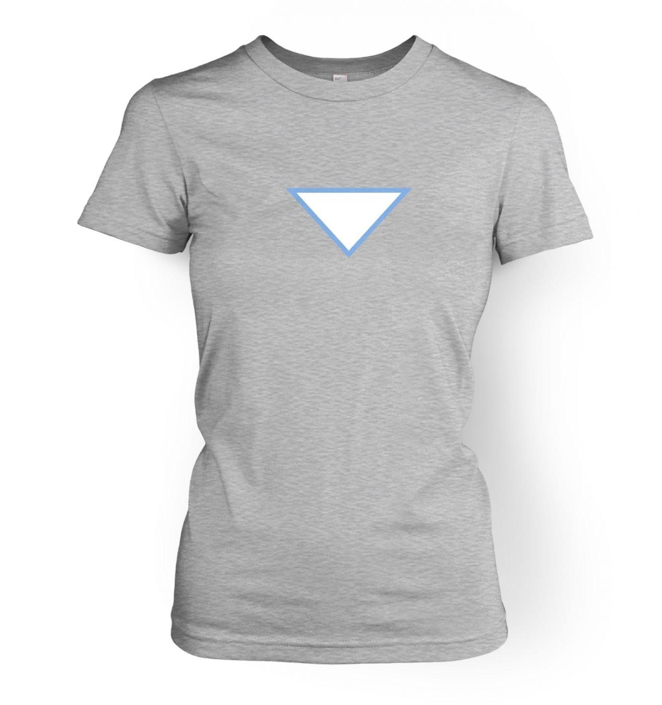 Triangular Power Cell women's fitted t-shirt