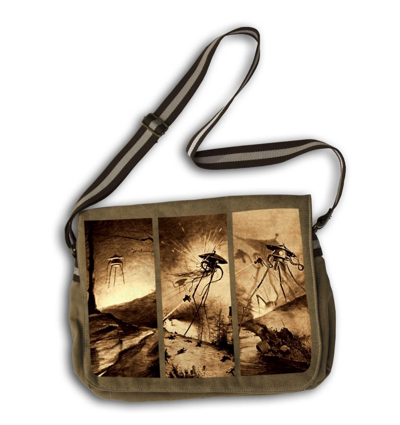 Triptych War Of The Worlds messenger bag