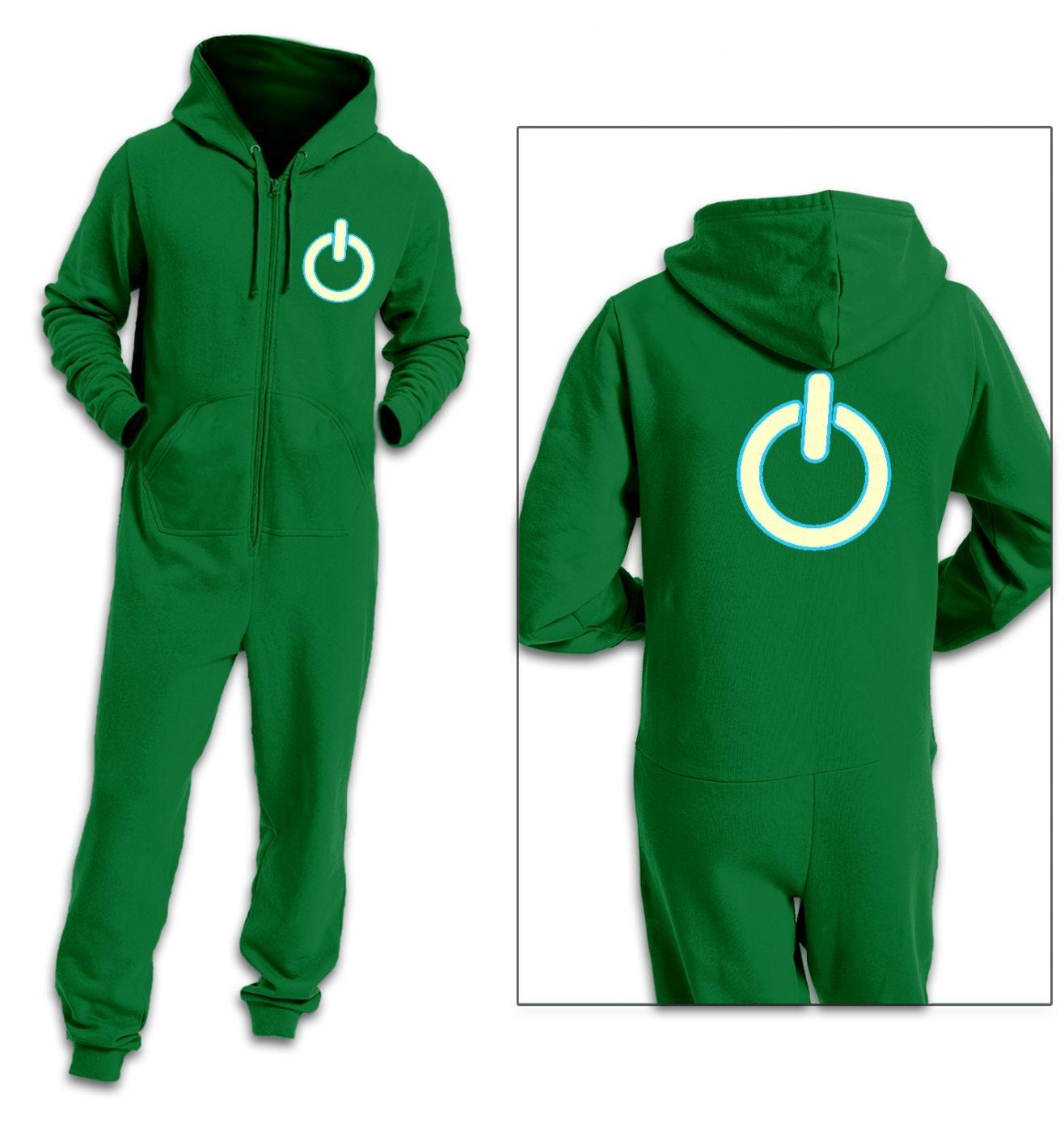 Power symbol (glow in the dark) adult premium warm onesie (glow in the dark) adult premium warm onesie