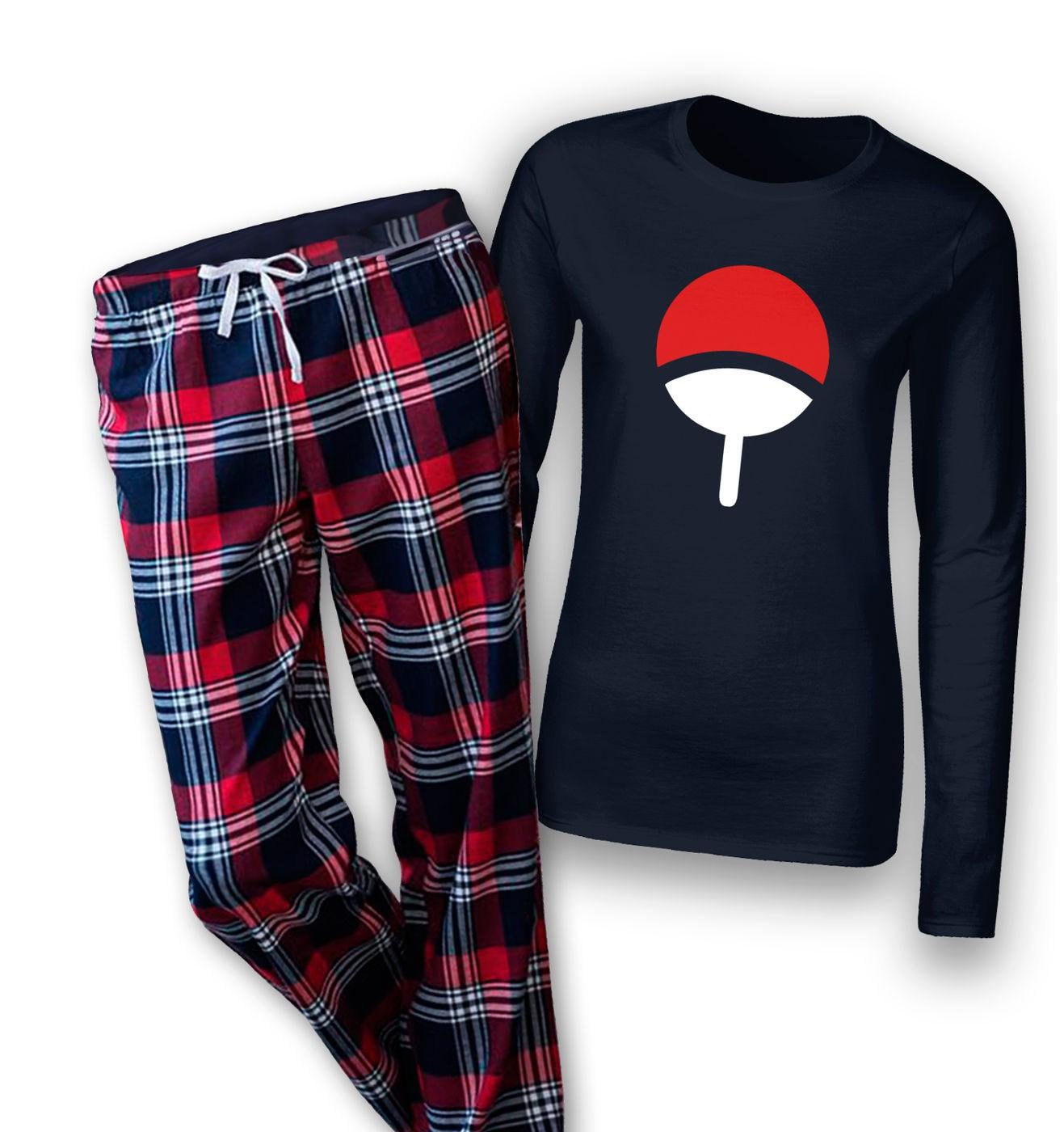 Uchiha Family womens long sleeve pyjamas by Something Geeky