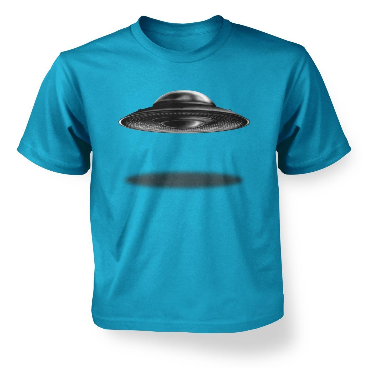 Ufo Landing Flying Saucer Kids T Shirt Somethinggeeky