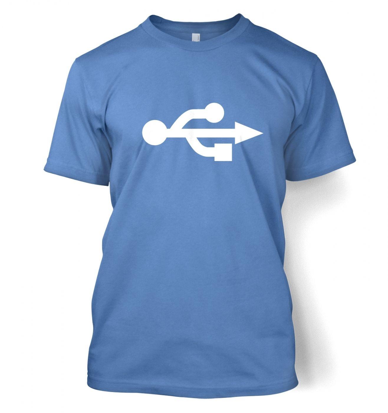 USB Universal Serial Bus symbol t-shirt