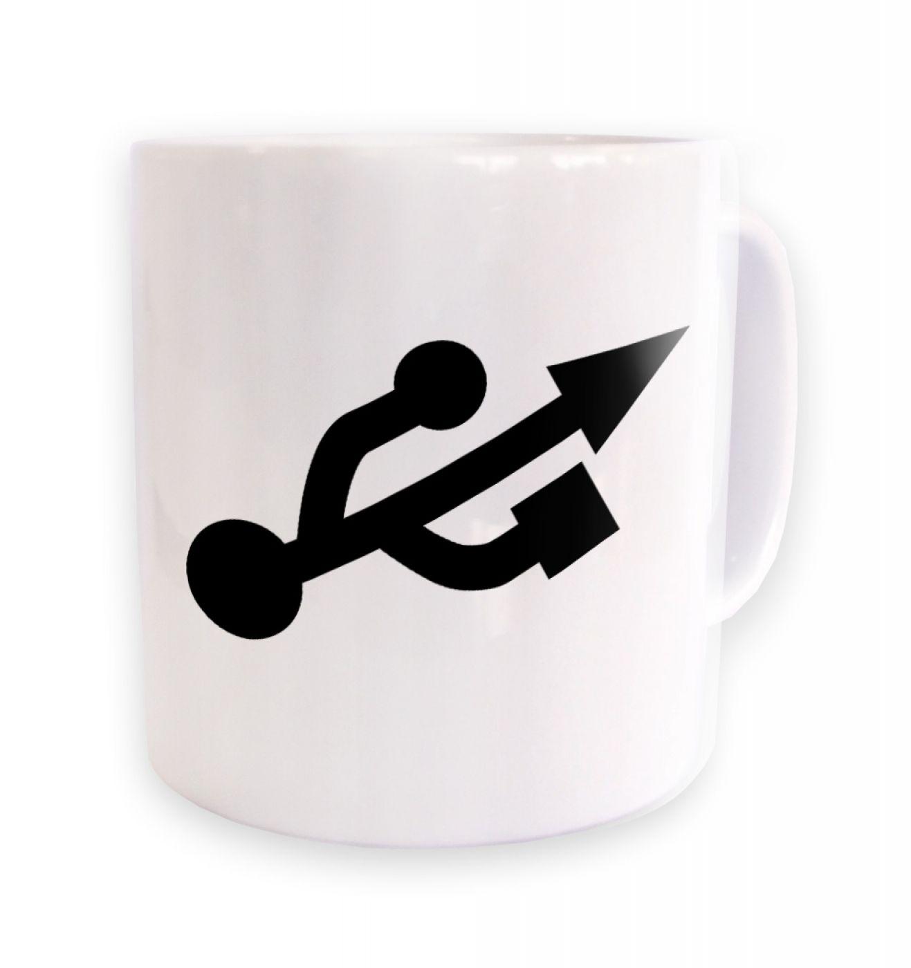 USB Universal Serial Bus symbol mug