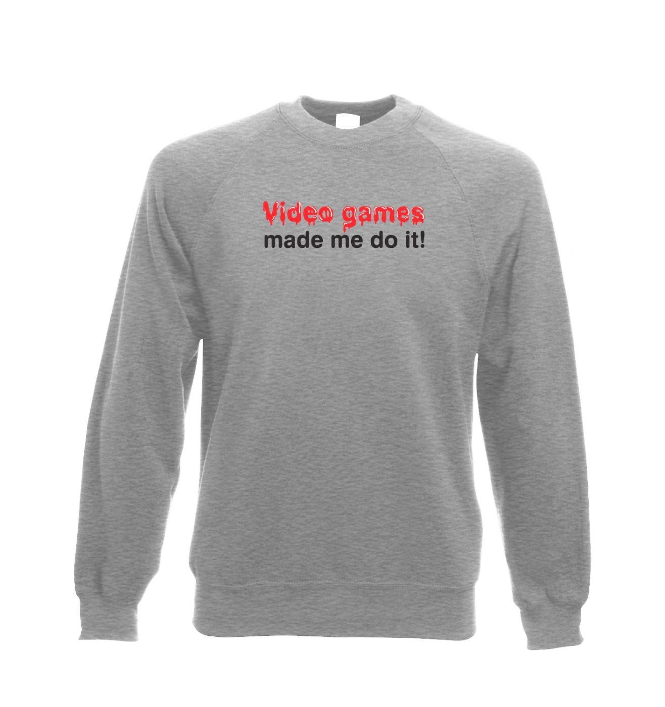 Video Games Made Me Do It crewneck sweatshirt