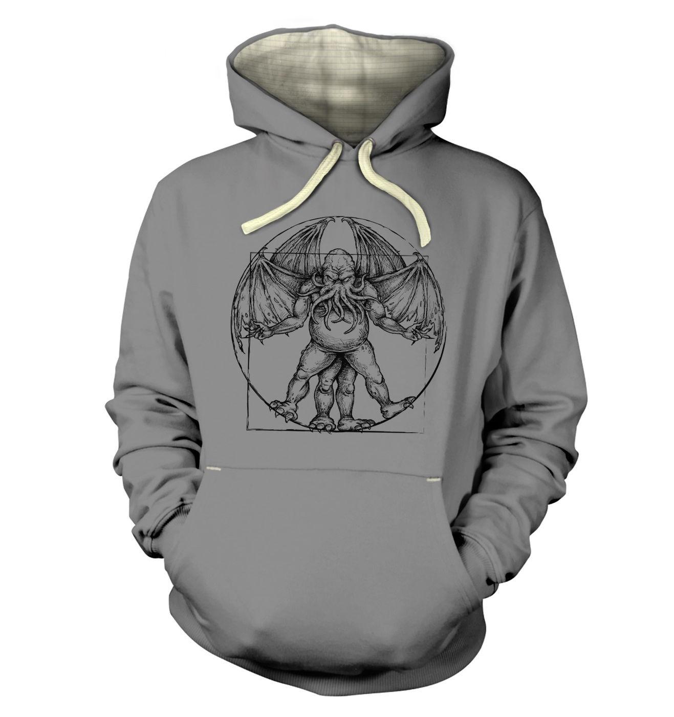 Vitruvian Cthulhu hoodie (premium)