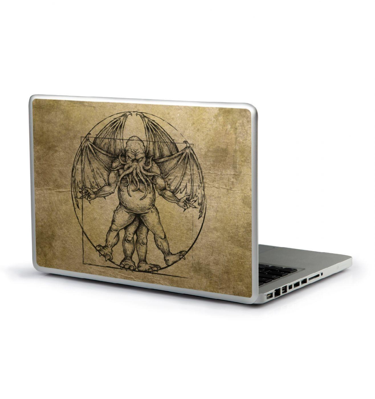 Vitruvian Cthulhu laptop sticker