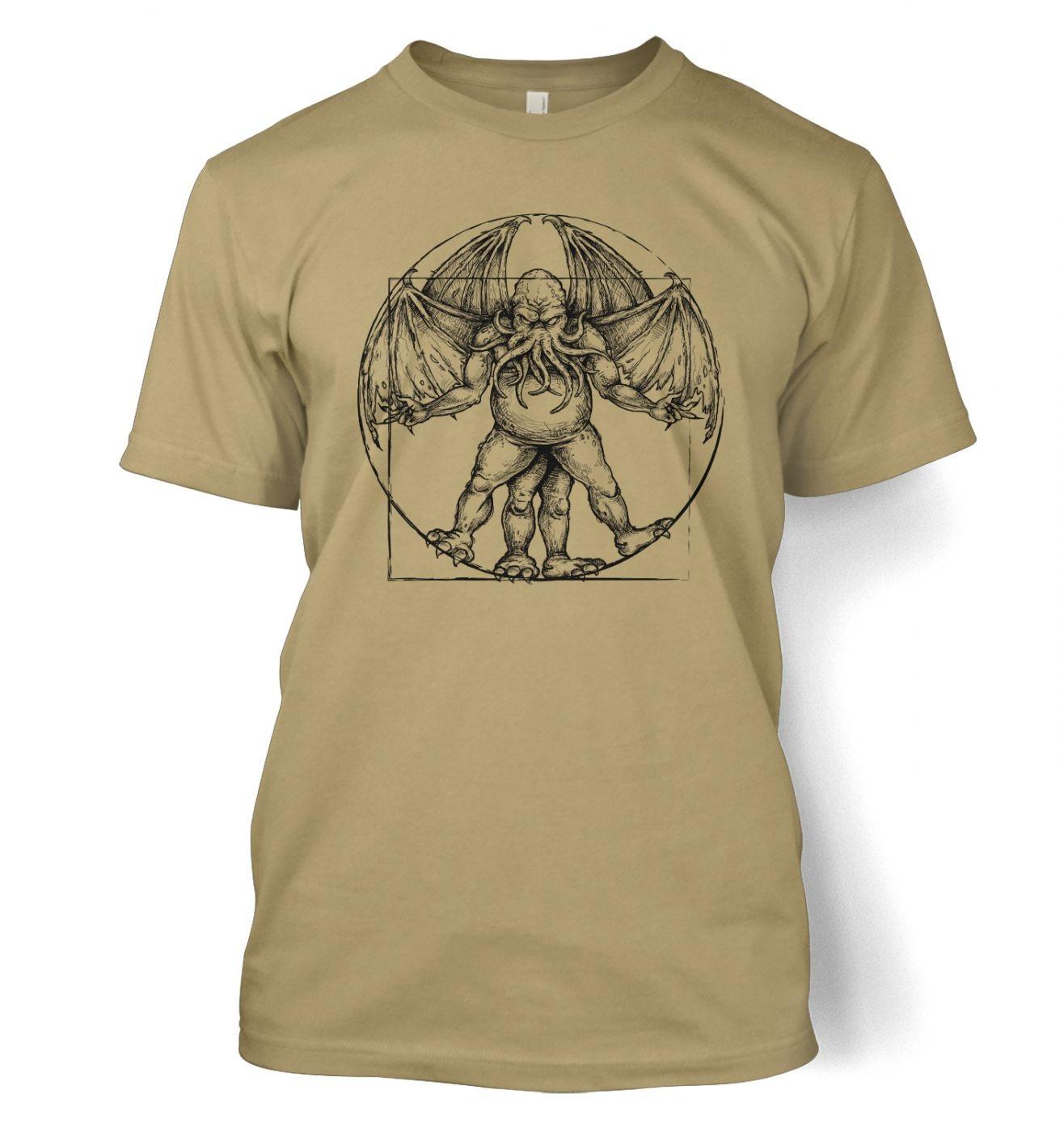vitruvian cthulhu tshirt somethinggeeky