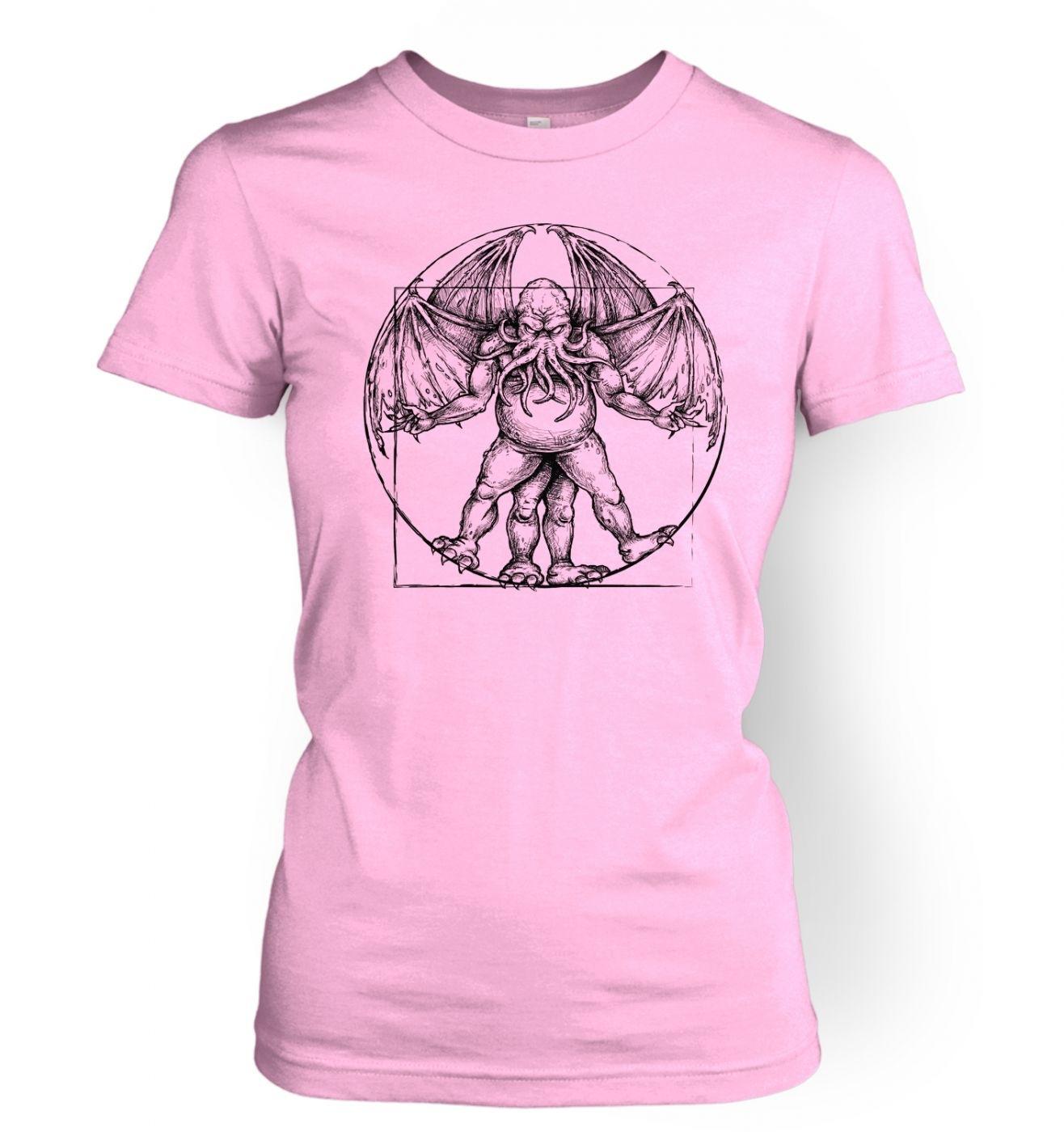 Vitruvian Cthulhu women's t-shirt