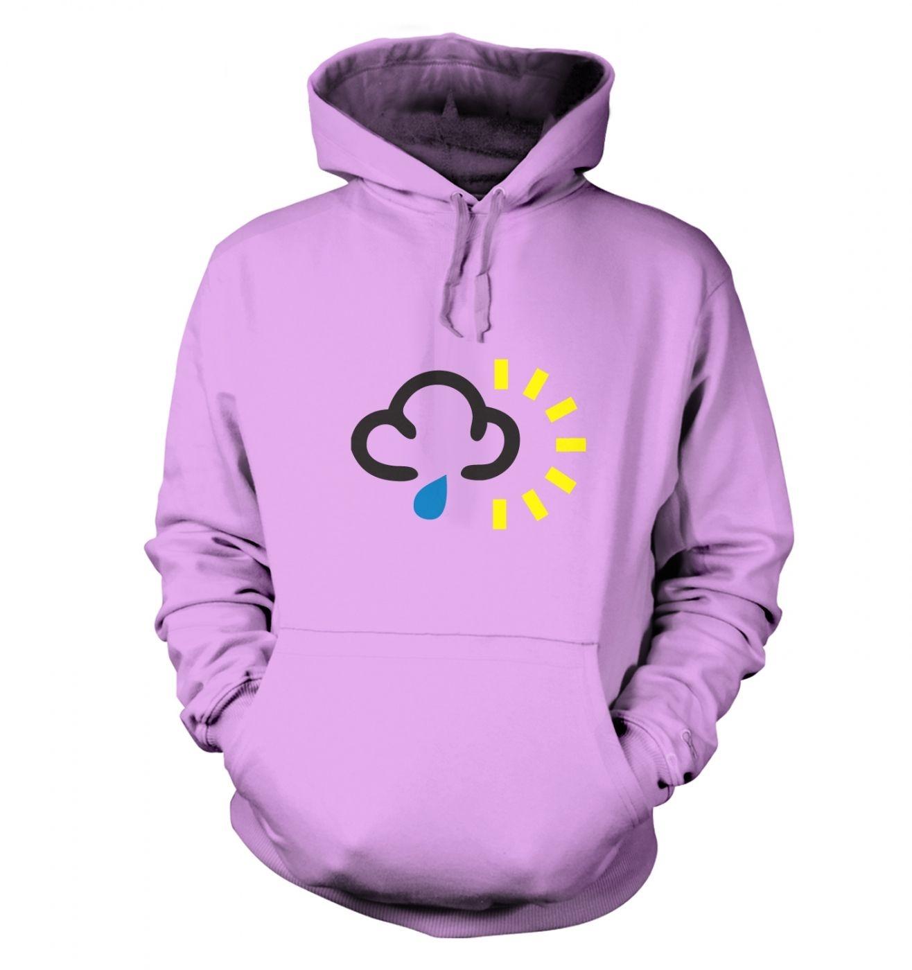 Weather Symbol Rain with Sun hoodie