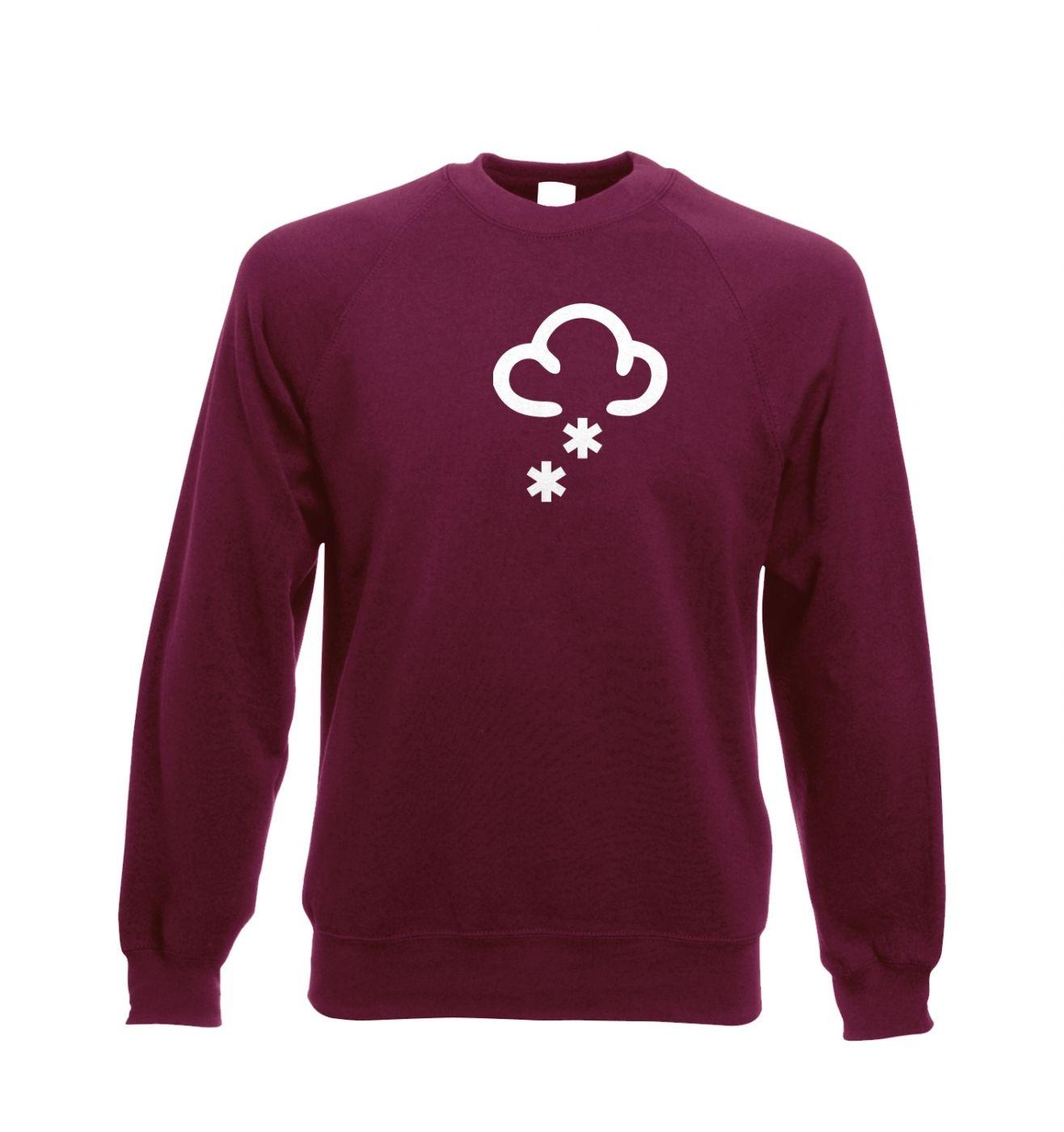 Weather Symbol Snow Adult Crewneck Sweatshirt