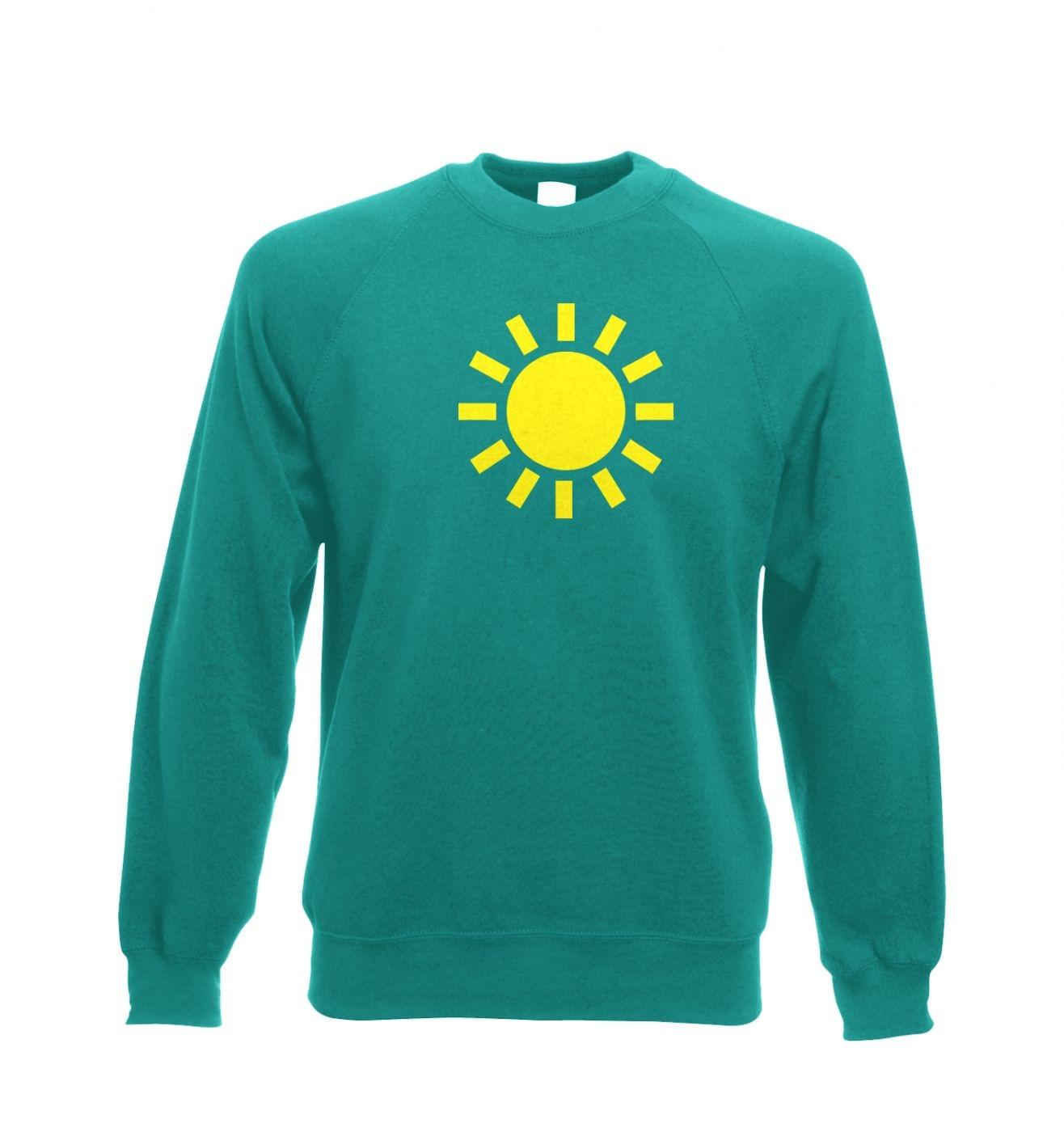Weather Symbol Sunny Adult Crewneck Sweatshirt