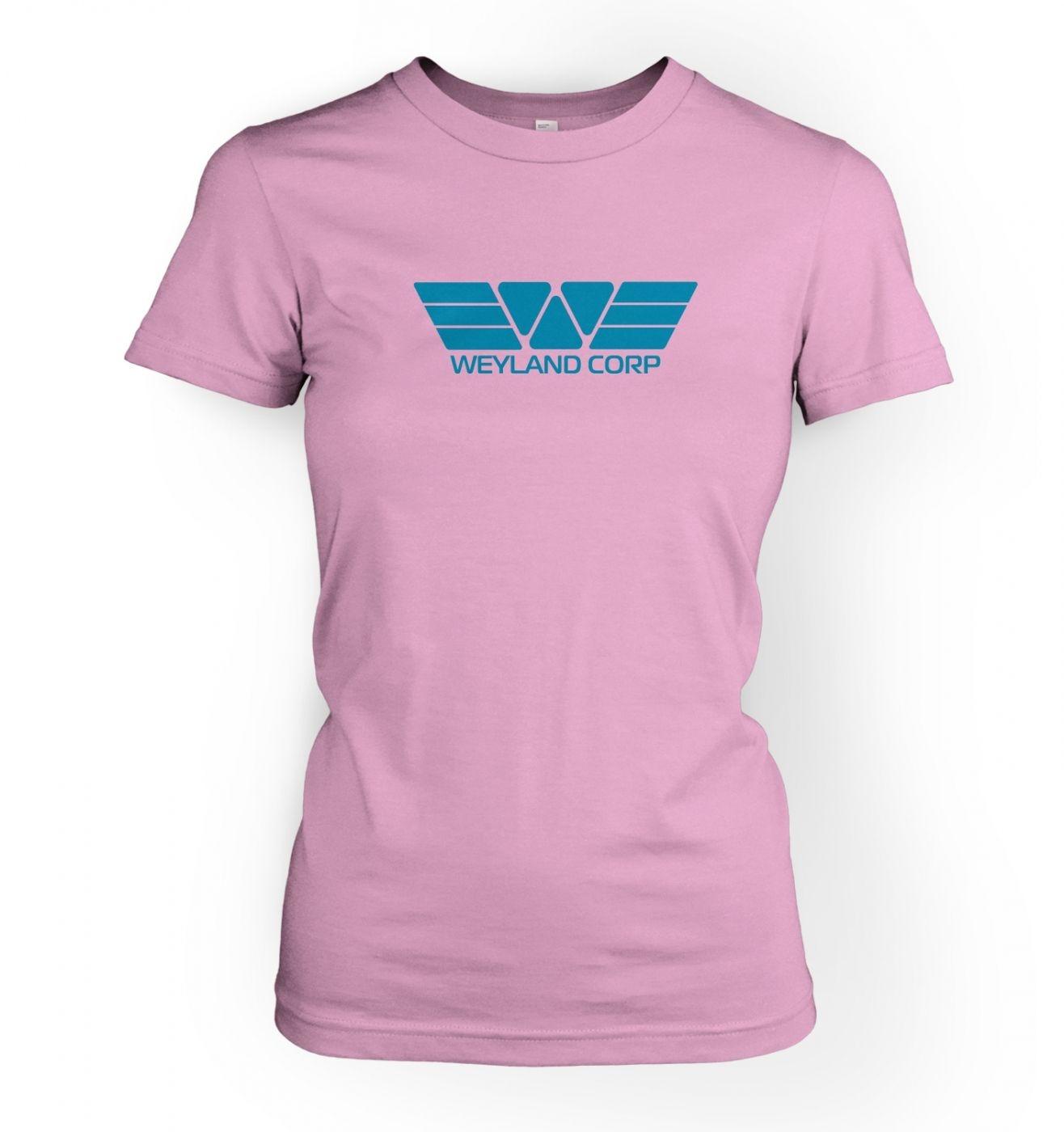 Weyland Corp (blue) women's fitted t-shirt