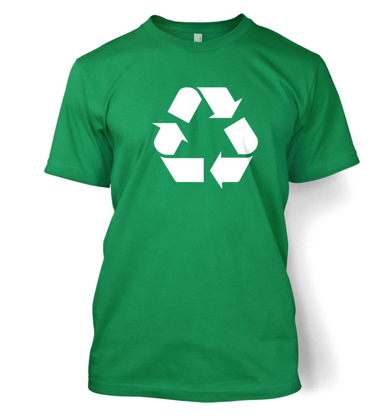 White recycling symbol t shirt somethinggeeky white recycling symbol mens t shirt buycottarizona