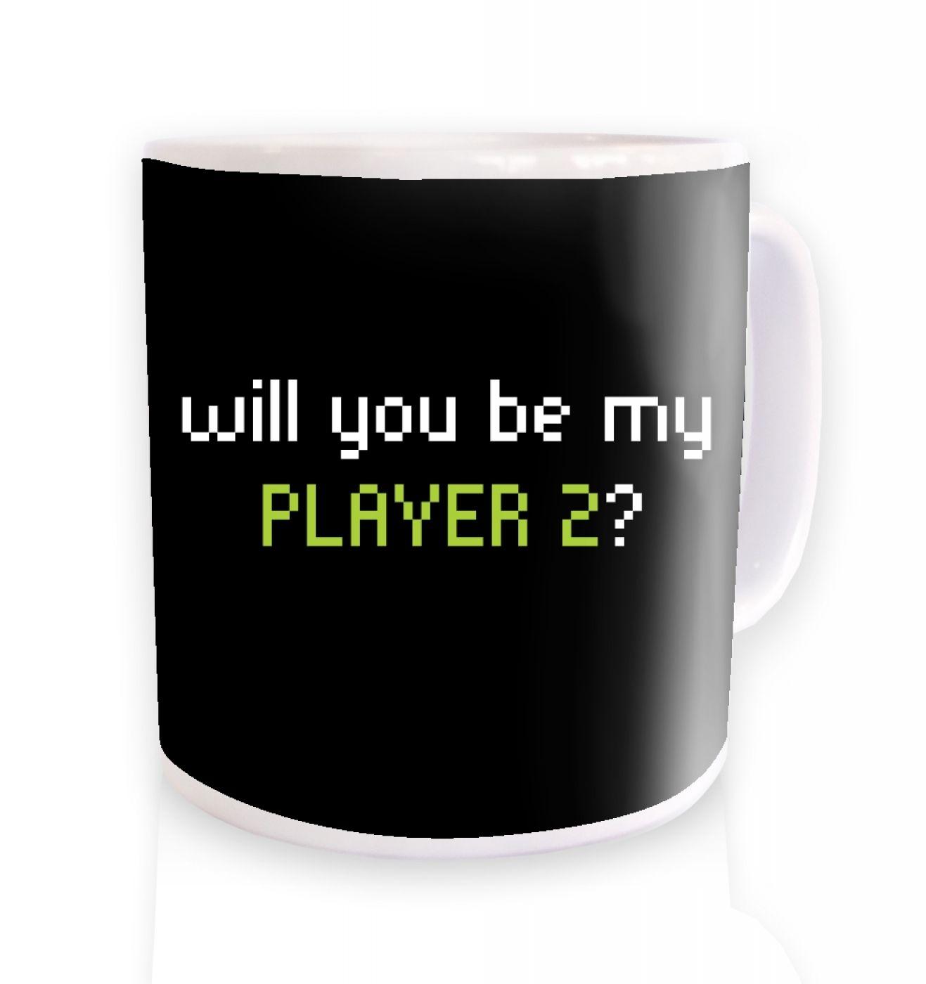 Will You Be My Player 2 ceramic coffee mug