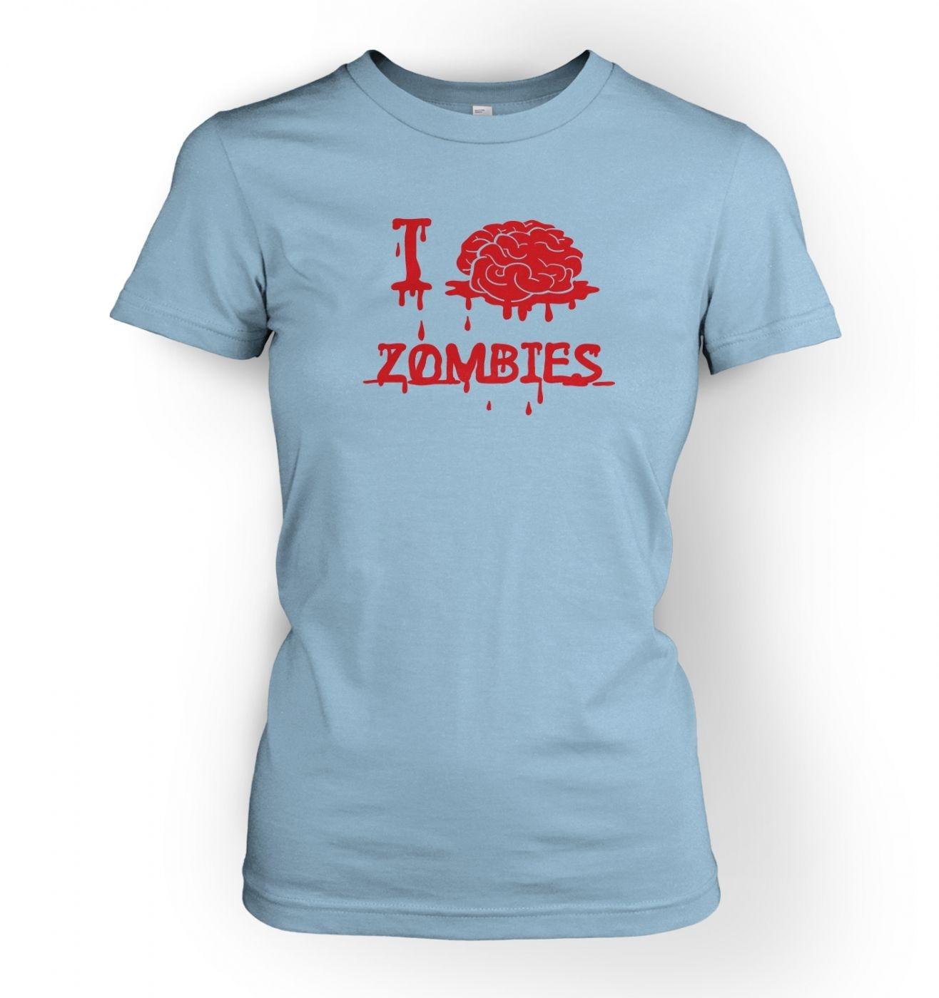 Women's I brain zombies t-shirt