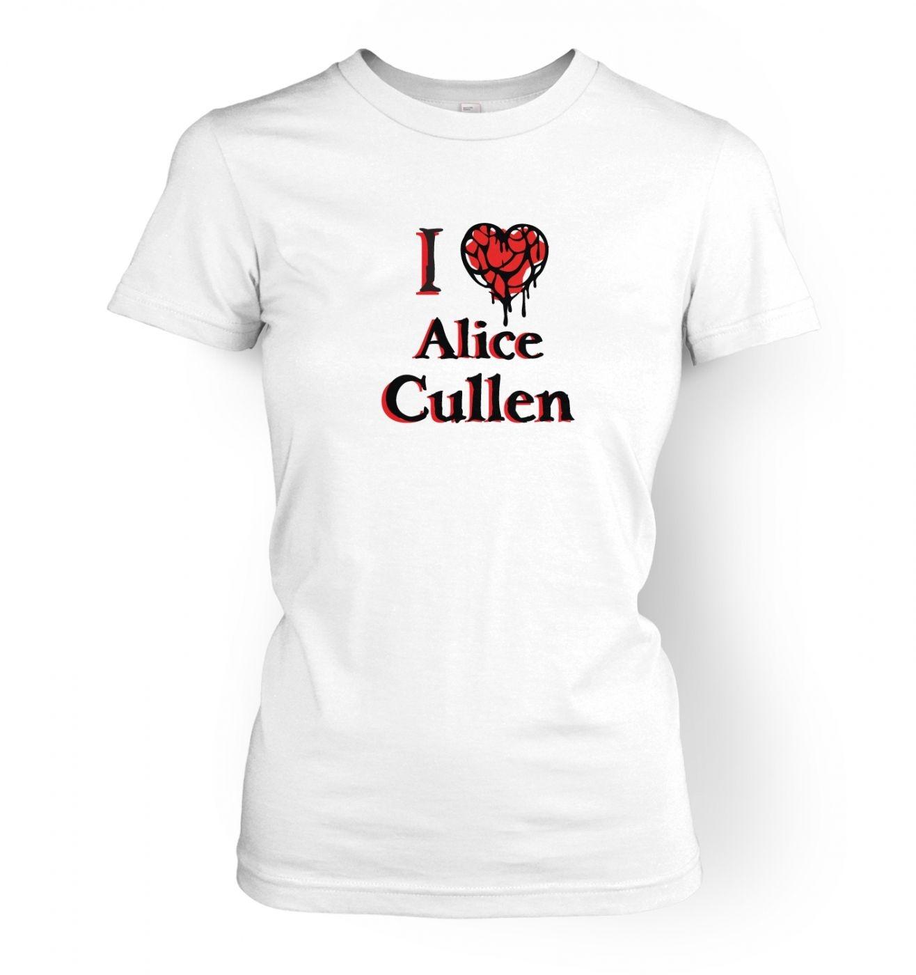 I heart Alice Cullen women's t-shirt