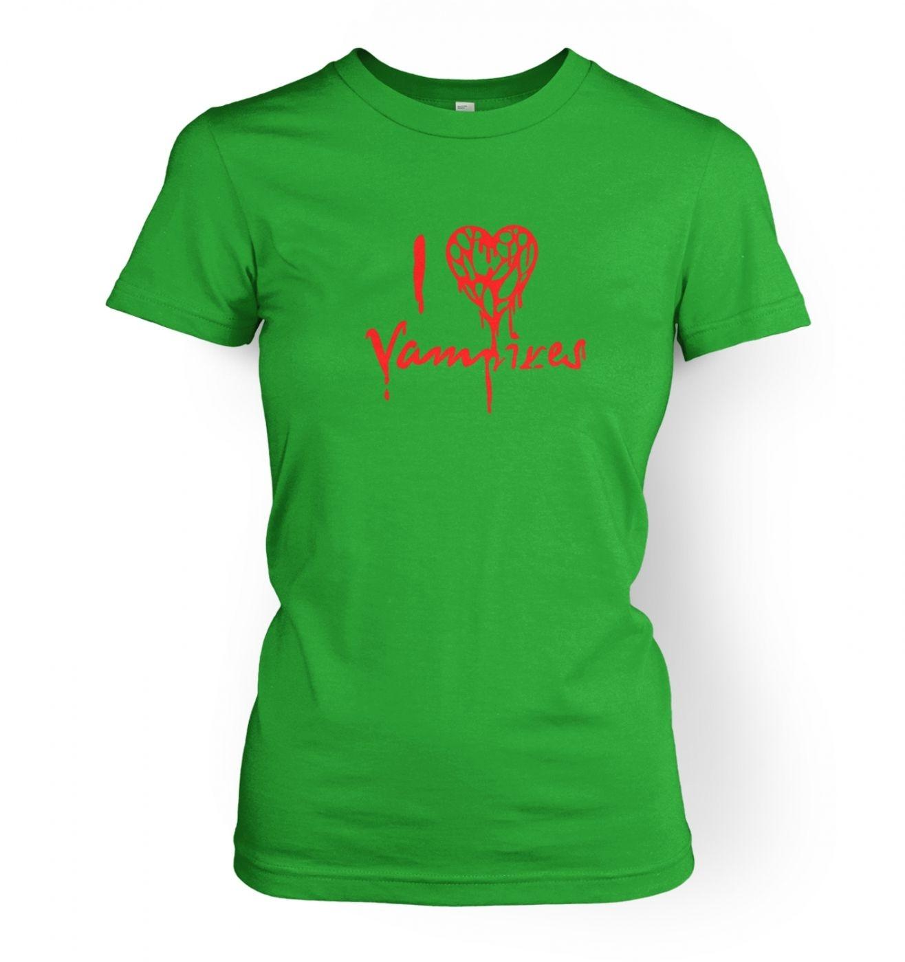 I Heart Vampires women's fitted t-shirt