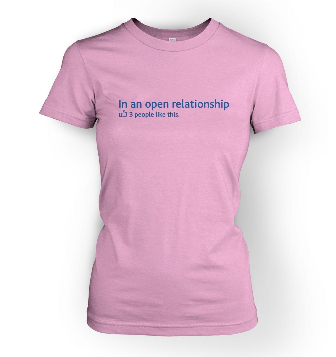 Women's In an open relationship social status t-shirt