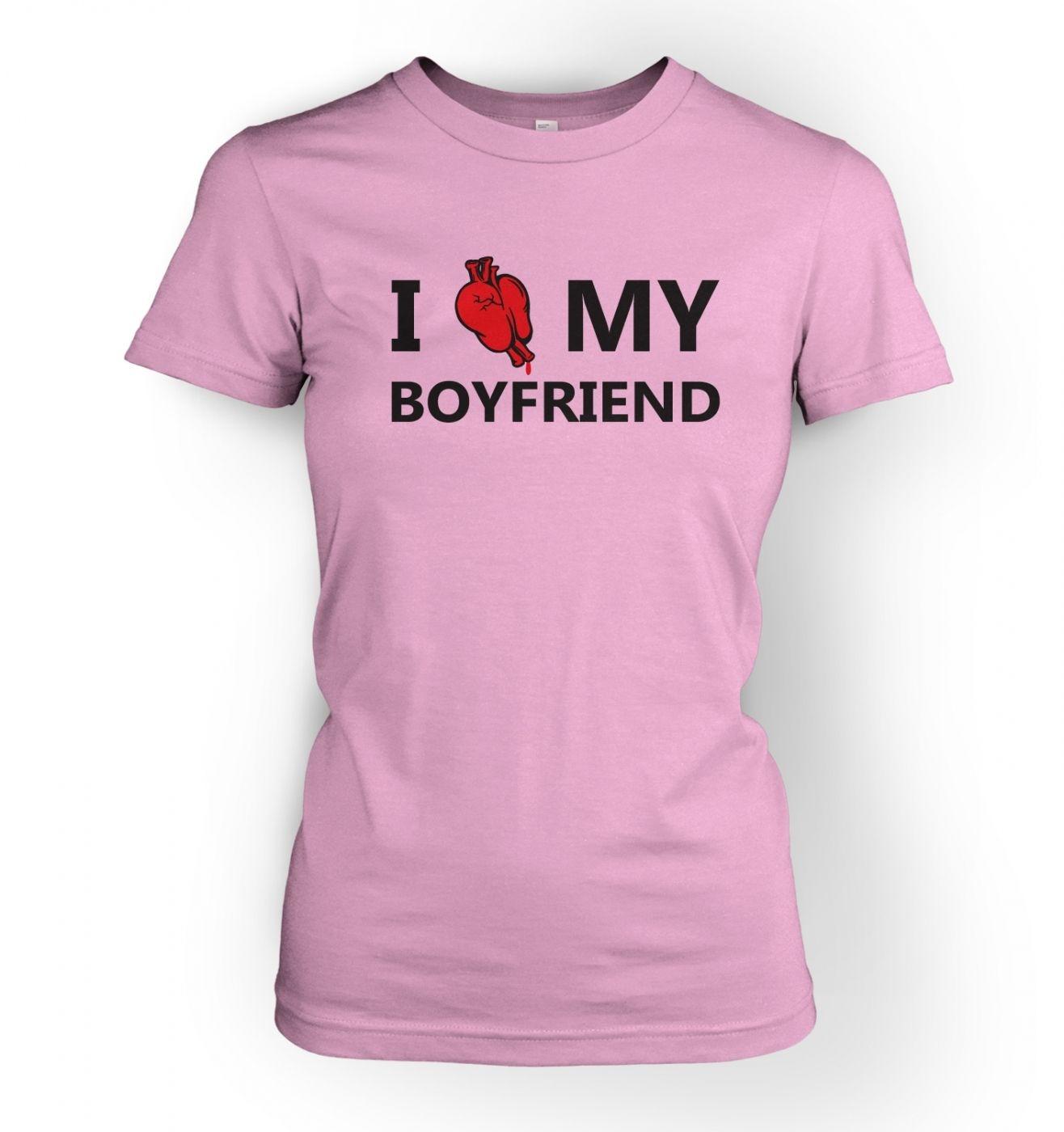 Women's I real heart my boyfriend t-shirt