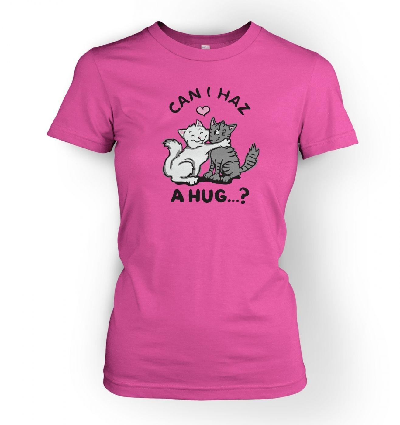 Women's lolcat hugz t-shirt