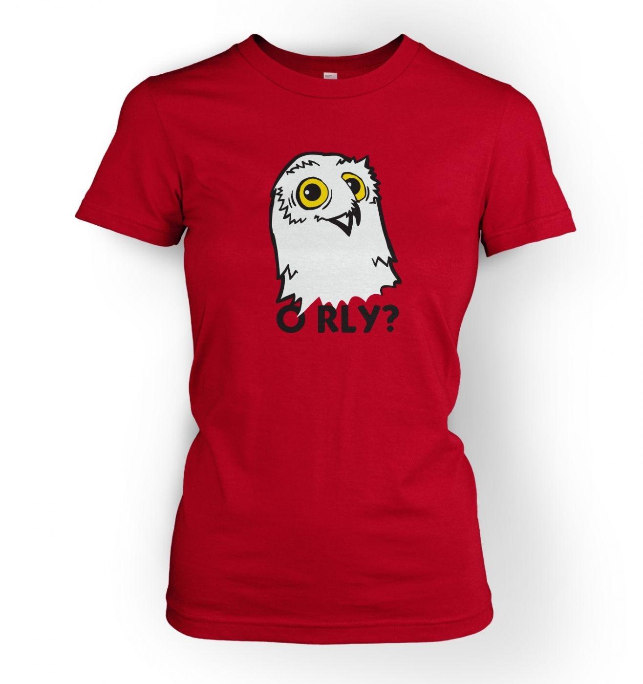 Women's O RLY? Owl t-shirt