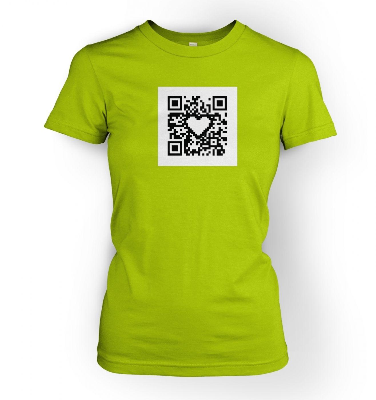 Women's QR code heart t-shirt