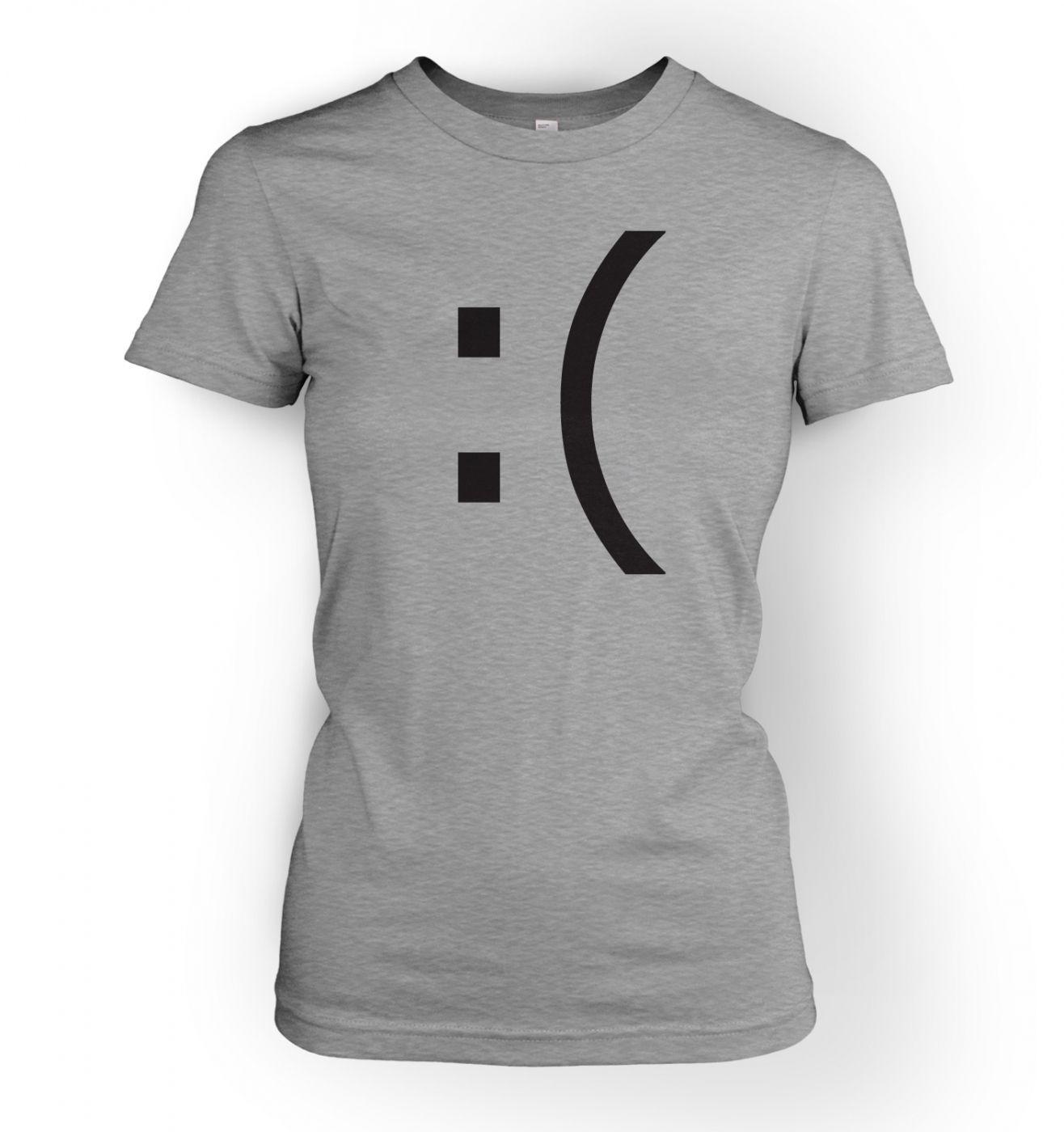 Women's Sad Emoticon t-shirt