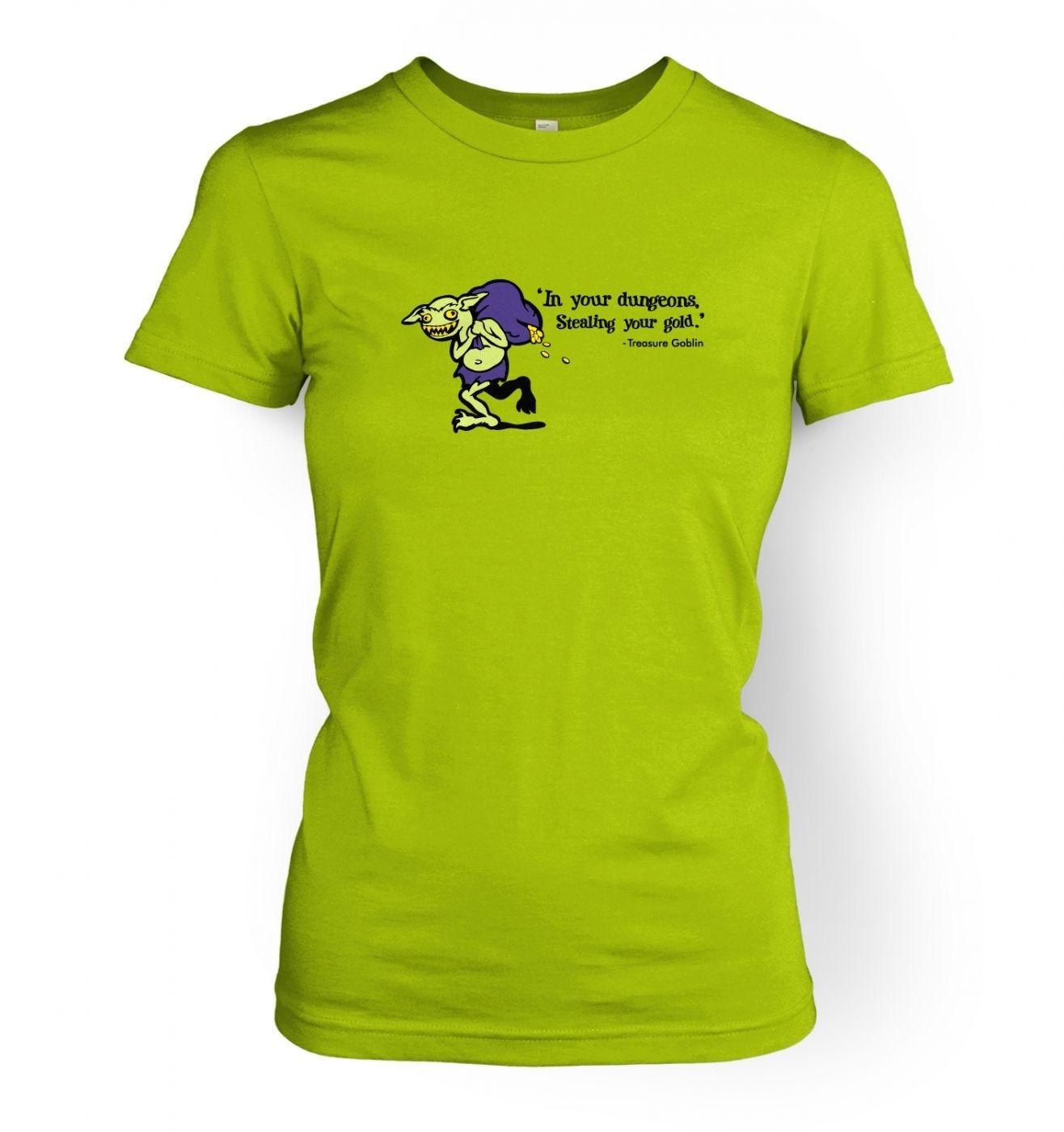 Treasure Goblin women's fitted t-shirt