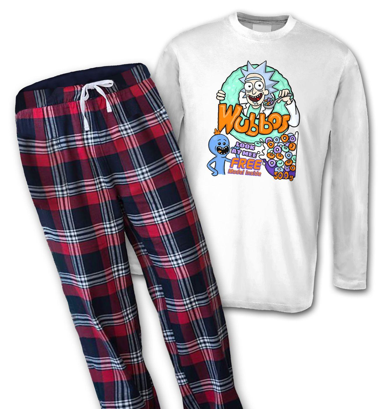 Wubbos Cereal mens long sleeve pyjamas by Something Geeky