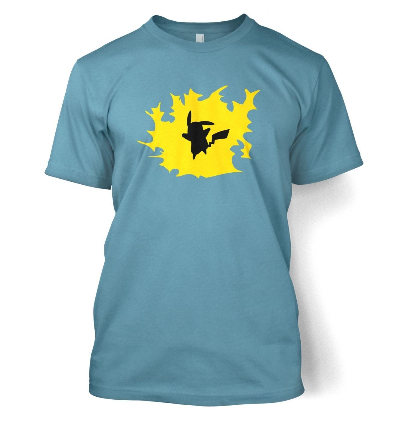 Yellow Pikachu Silhouette T-Shirt - Inspired by Pokemon