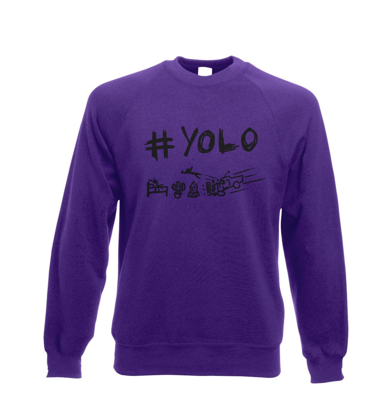 Adults' #yolo crewneck sweatshirt. You only live once