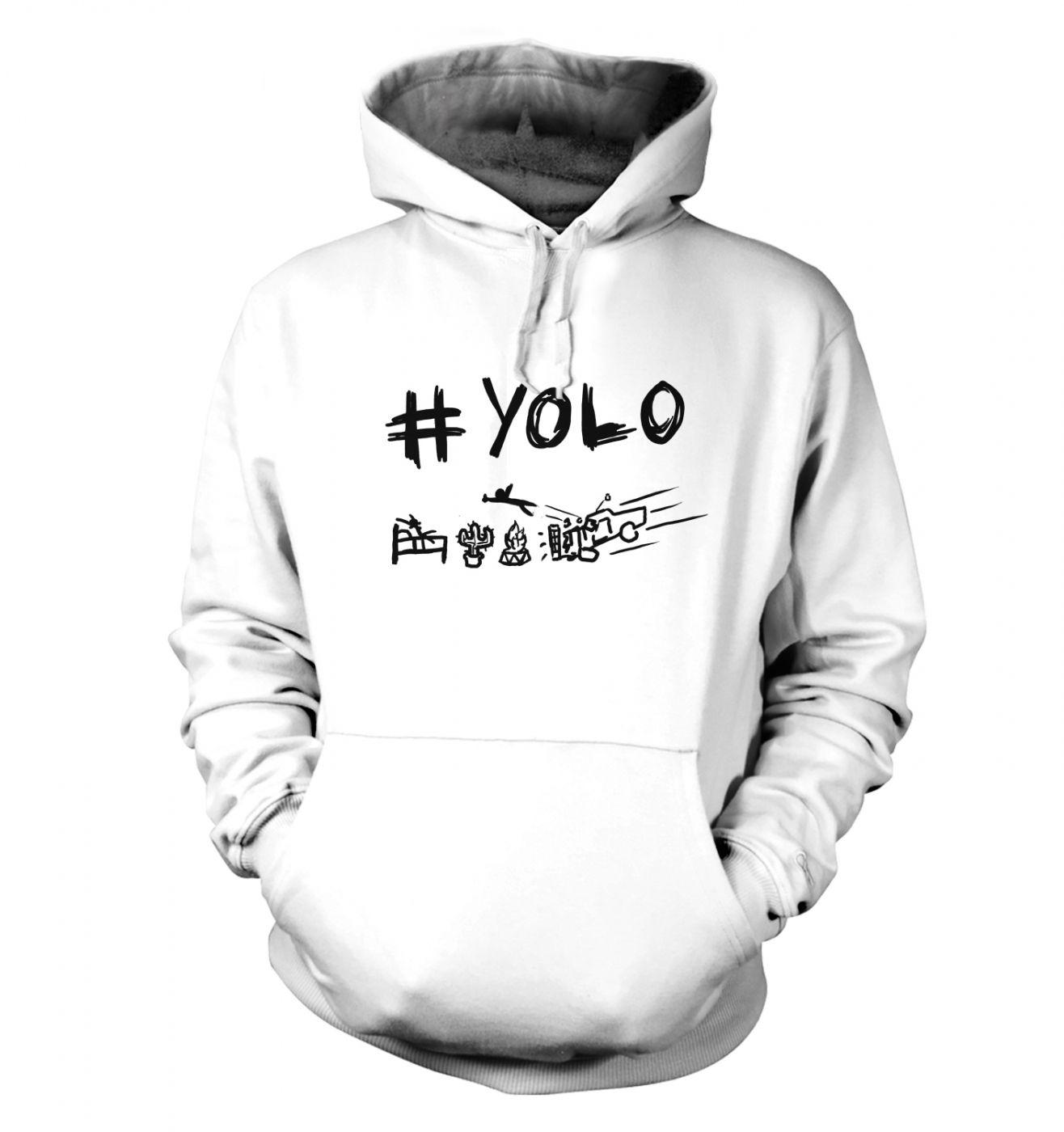 #YOLO unisex Hoodie